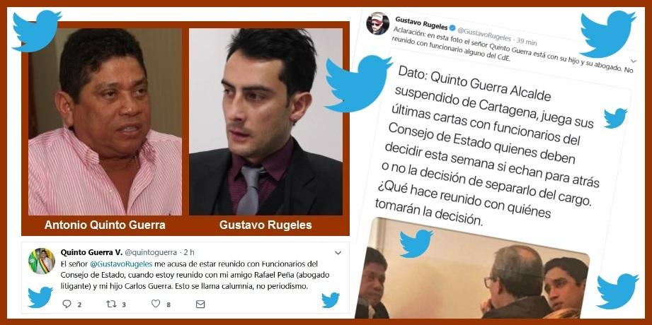 Con un tuit contra el alfil uribista Gustavo Rugeles rompe su silencio Quinto Guerra