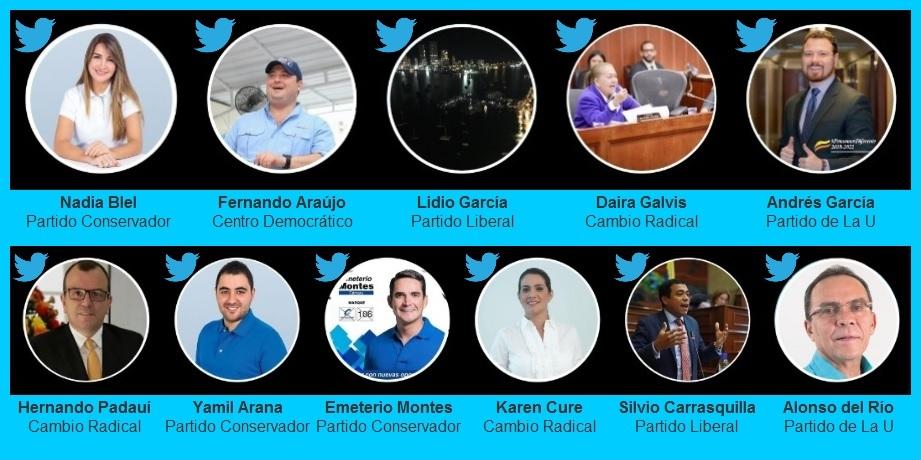 Las publicaciones en Twitter de los recién juramentados congresistas bolivarenses