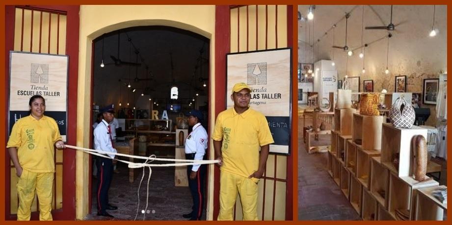 La Tienda Escuela Taller abre sus puertas en Las Bóvedas de Cartagena