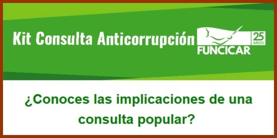 Funcicar explica -punto por punto – porqué es importante votar la Consulta Anticorrupción