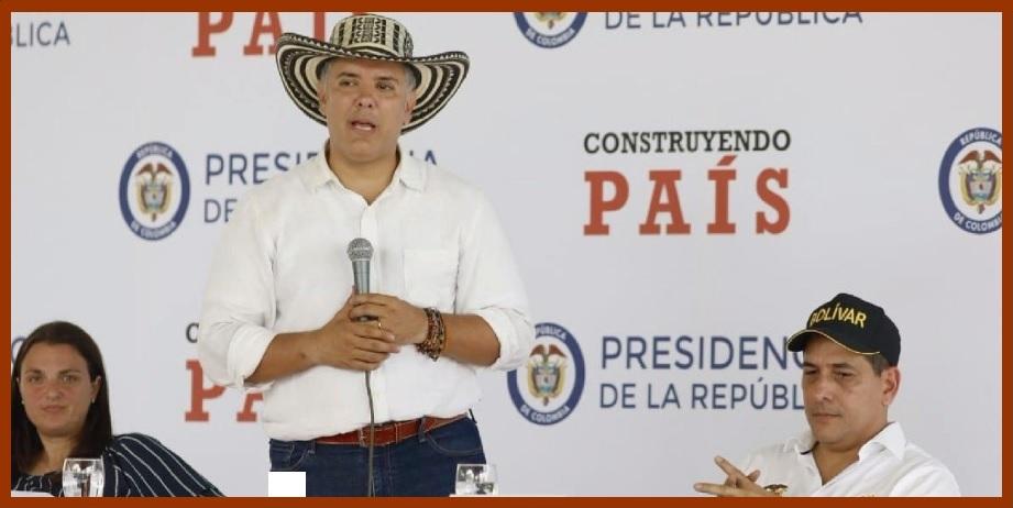 Iván Duque se comprometió con el desarrollo de Bolívar durante el taller 'Construyendo País'