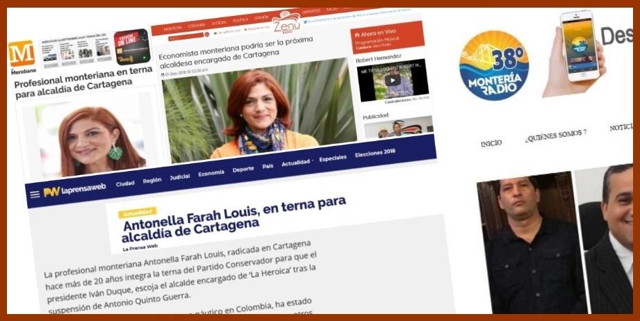 Medios cordobeses destacan que una monteriana pueda ser alcaldesa de Cartagena