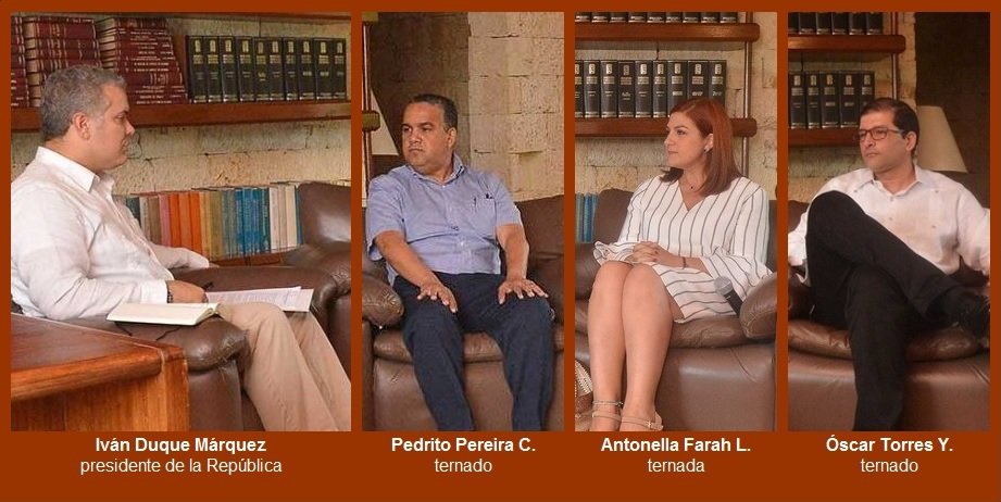 Tras ser entrevistados, Pereira, Farah y Torres suscribieron 'Compromiso con Cartagena'
