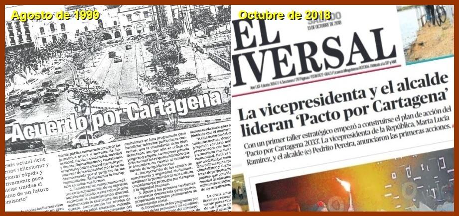 De los Pactos, Acuerdos y Alianzas por Cartagena; similitudes y diferencias