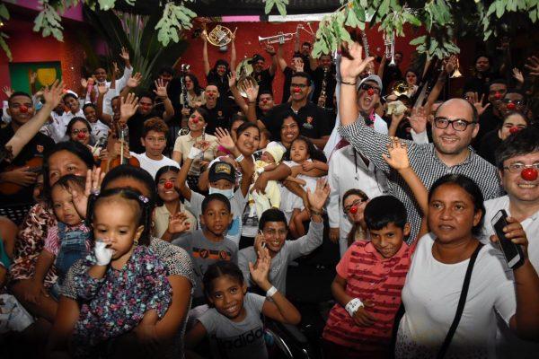 La Orquesta Sinfónica de Bolívar le regaló un concierto a 80 menores de la Casa del Niño