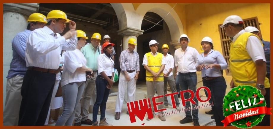 Turbay informa a los gremios cómo marchan las obras del Palacio de la Proclamación