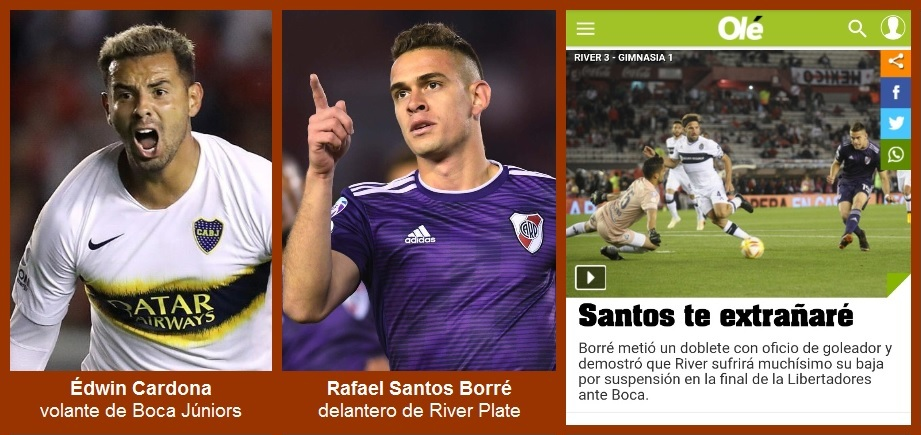 A seis días de la final en Madrid, dos jugadores colombianos son protagonistas en Argentina