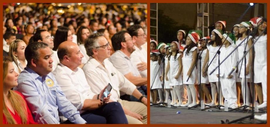 Los rostros de la Navidad en Cartagena I: el encendido de luces en Chiquinquirá