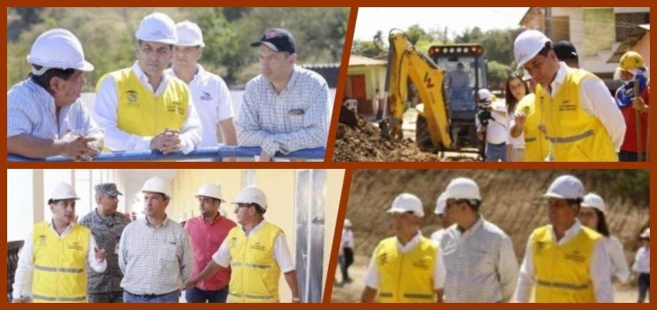 Verificando cómo avanzan varias obras cierra el 2018 la Gobernación de Bolívar