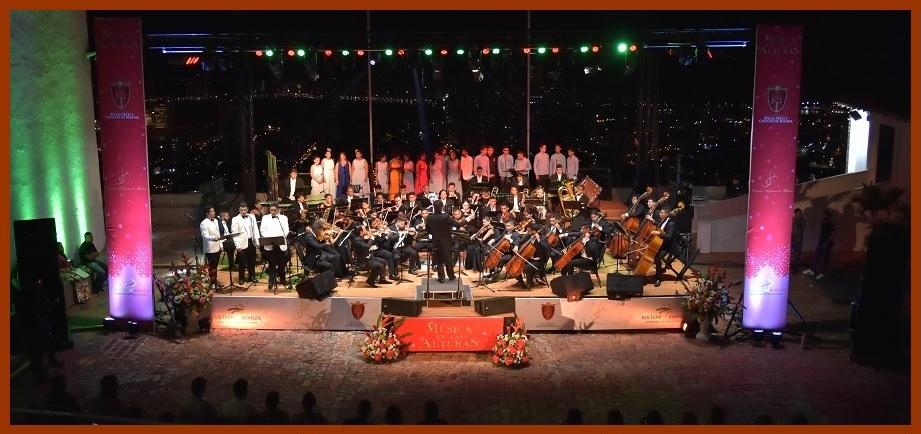 Orquesta Sinfónica de Bolívar le da la bienvenida a la Navidad en el Cerro de La Popa