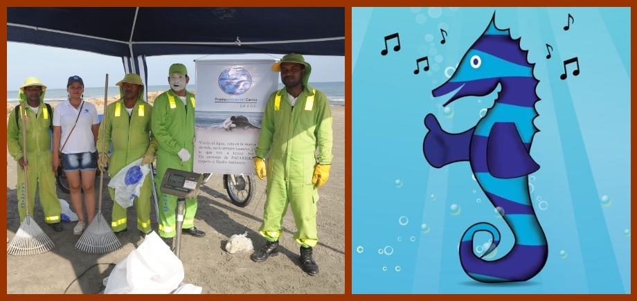 Moncho, el caballito de mar que fomentará buenas prácticas de aseo en Cartagena