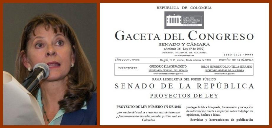 Falsa carta, atribuida a Marta Lucía Ramírez, revive debate sobre Ley contra fake-news