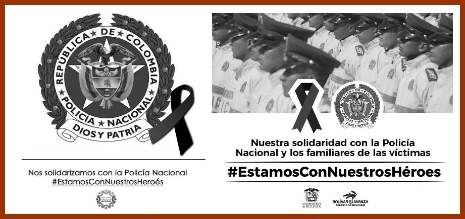 Cartagena y Bolívar también repudian atentado a Escuela de Cadetes de la Policía