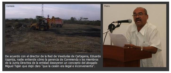 «Cesión gratuita del lote Doña Manuela es ilegal», asegura el director de la Red de Veedurías Ciudadanas de Cartagena #ARCHIVO