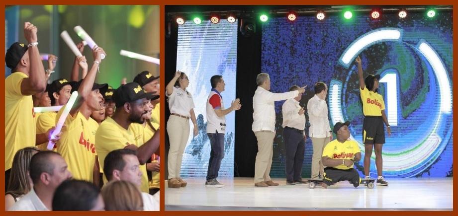 Cartagena y Bolívar dieron inicio a cuenta regresiva de los Juegos del Bicentenario