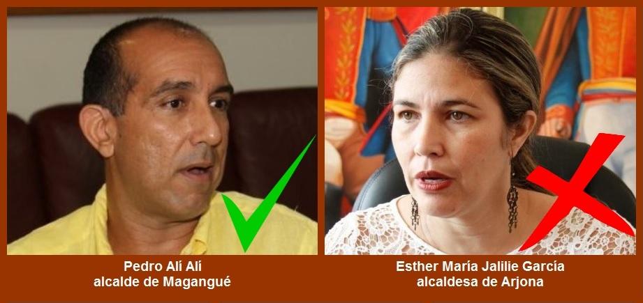 De Magangué y Arjona, los alcaldes con mejor y peor imagen, respectivamente