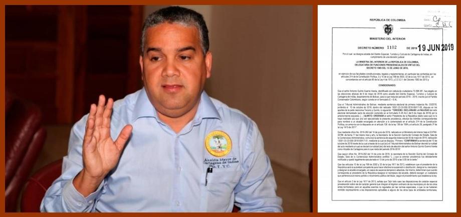 Ratificando a Pereira, Duque le apuesta a que a Cartagena no se le cause un nuevo trauma
