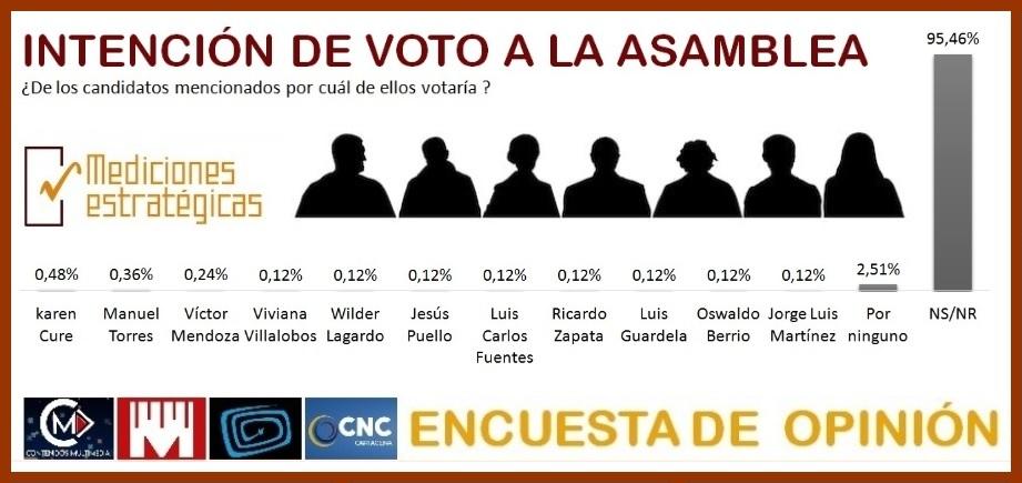 Aspirantes a la Asamblea, los más sonados y por quienes votarían los cartageneros