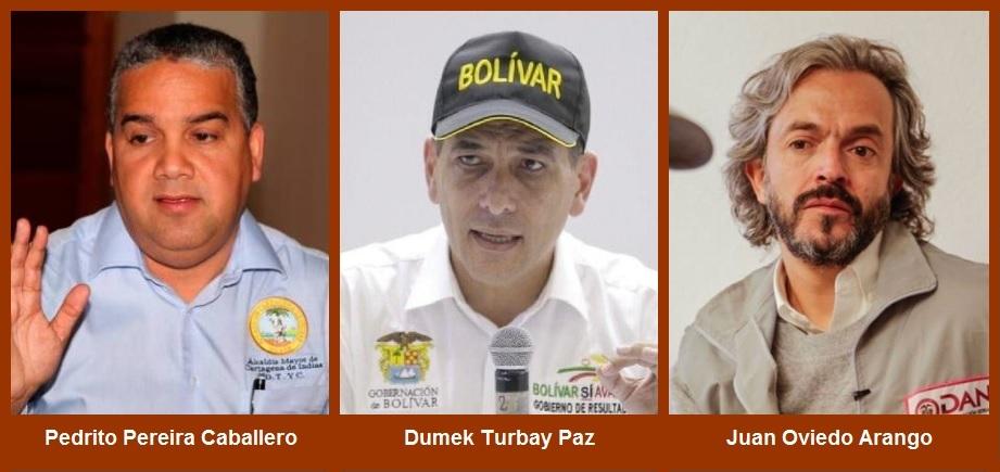 Hoy: cara a cara del gobernador de Bolívar, el alcalde de Cartagena y el director del Dane