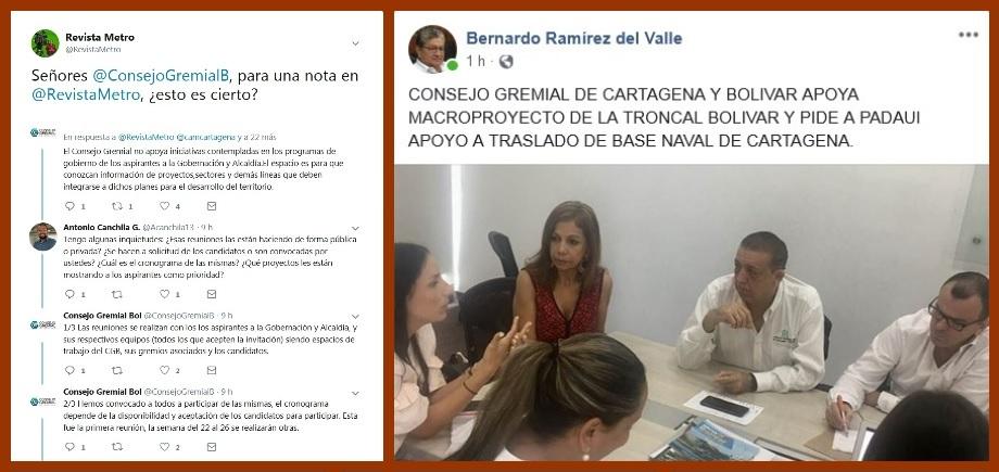 Intergremial de Bolívar responde inquietudes por reunión con candidato a la Gobernación