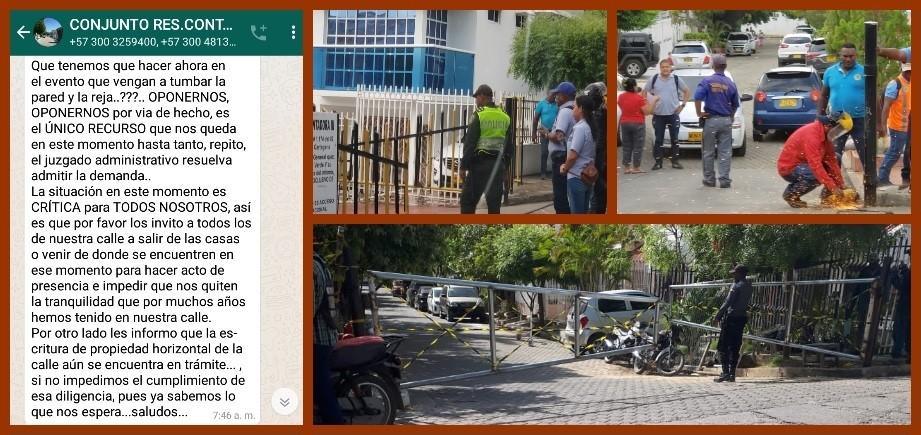 Residentes de Contadoras, divididos frente a vías de hecho con la que se enfrenta al Distrito