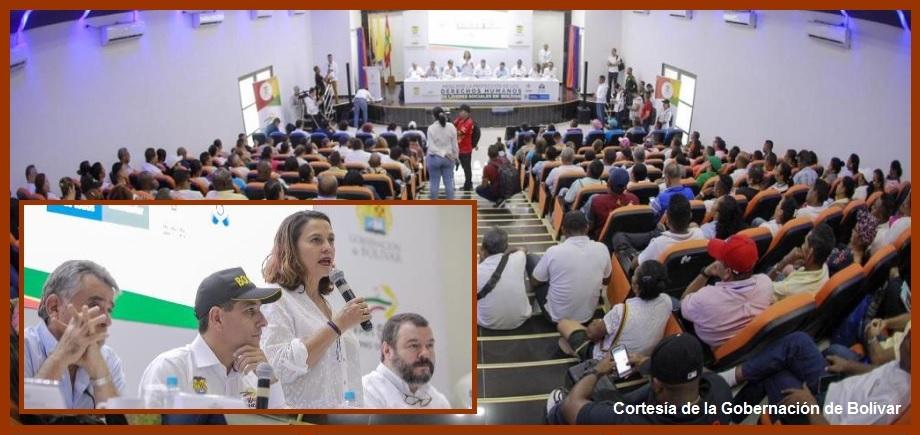 El Gobierno Nacional reitera compromiso con los líderes sociales de Bolívar