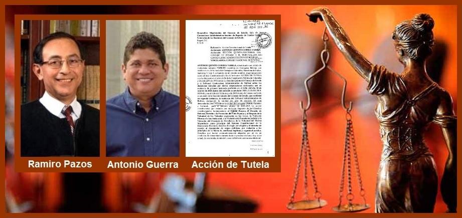 Mediante tutela, Antonio Quinto Guerra busca tumbar los fallos que anularon su elección