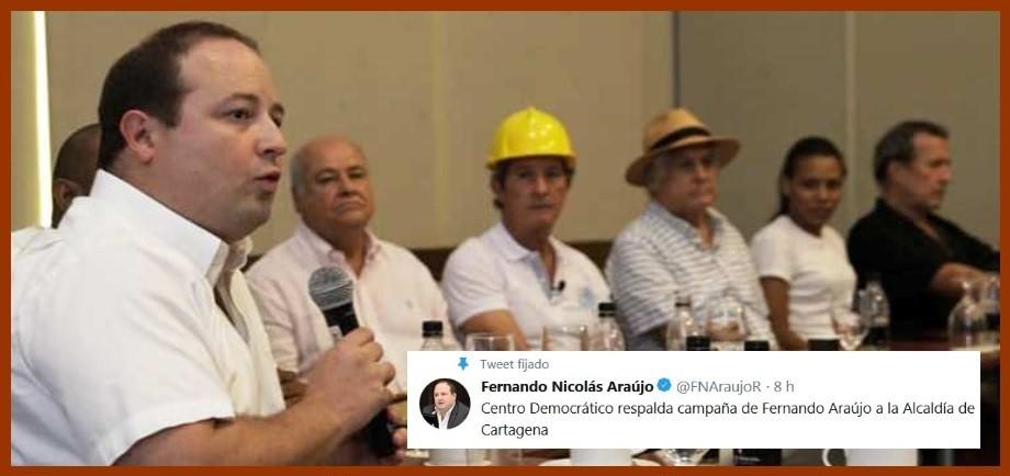 Tras un proceso con varios aspirantes, el Centro Democrático coavala a Fernando Araújo padre