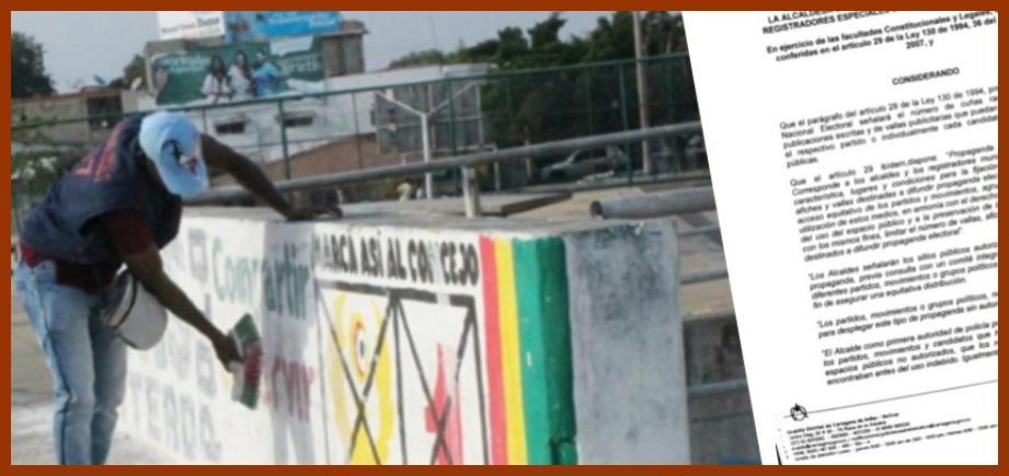 Distrito regula número de avisos y vallas que pueden usarse como propaganda electoral