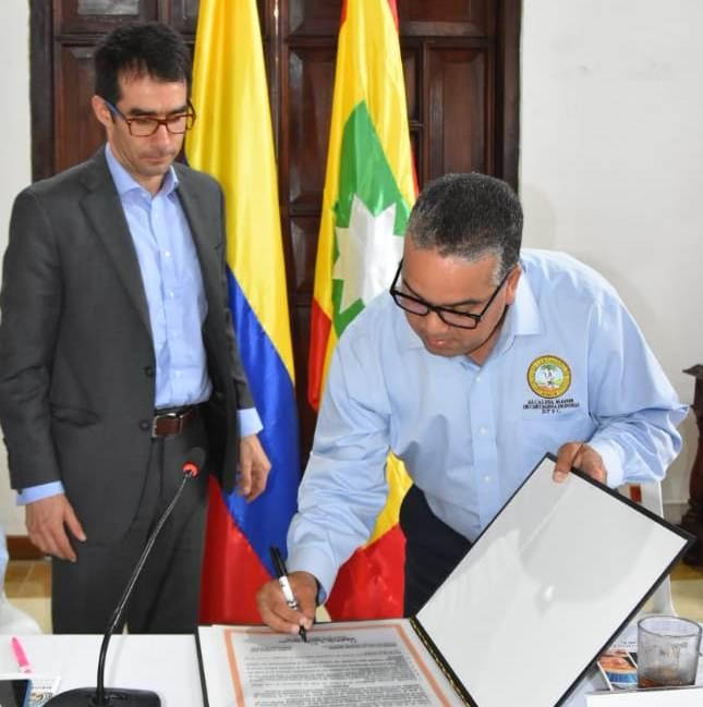 El presidente del CNE y el alcalde de Cartagena
