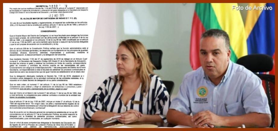 Alcalde del Distrito aparta de cuestionado proceso licitatorio a la secretaria de Educación