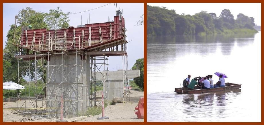 Entre la nostalgia y el progreso avanzan las obras del puente Arenal – Soplaviento