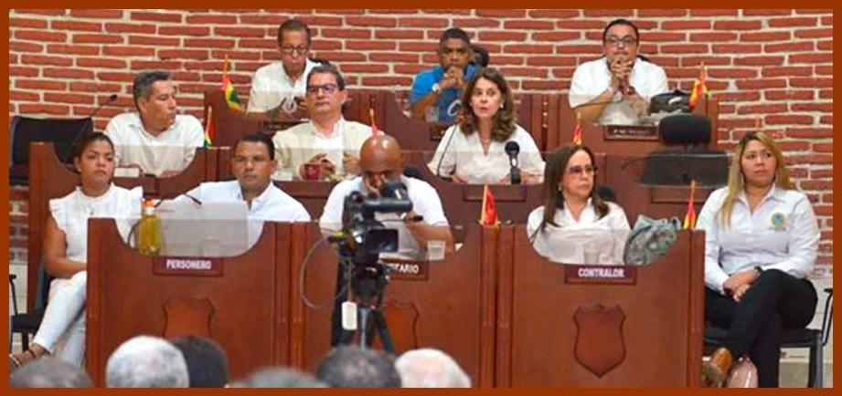 Vicepresidenta de la República, en el Concejo para explicar el porqué de una contrapartida
