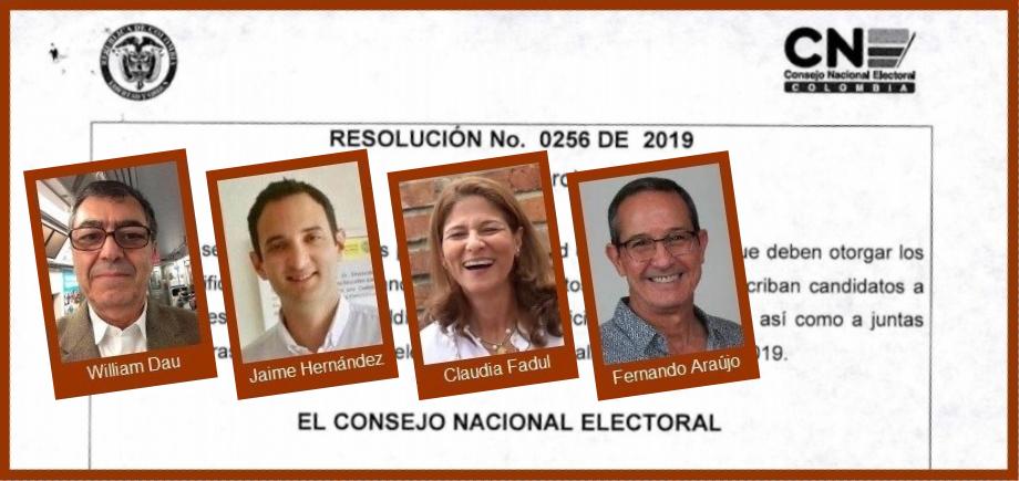 De los candidatos por firmas, ¿quiénes estarían dispuestos a respaldar a un tercero?