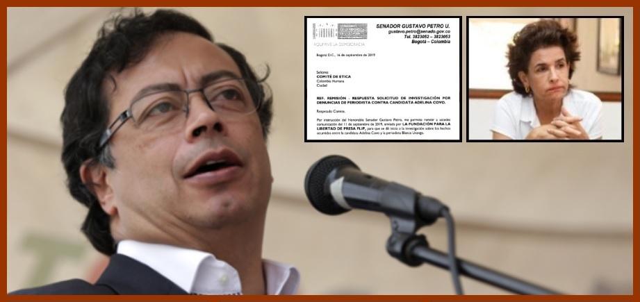 Gustavo Petro pide investigar a Adelina Covo por intimidación a estudiante de la Unitadeo