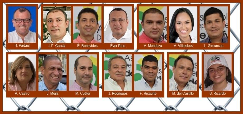 Si los escrutinios terminaran hoy, y con Nando Padauí, estos serían los diputados de Bolívar