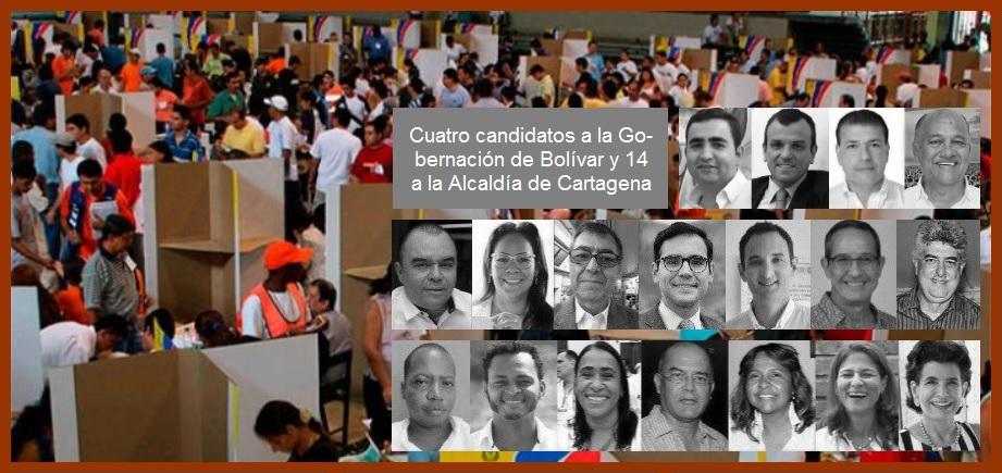 De los 1'624.408 bolivarenses aptos para votar el 27 de octubre, 796.967 son de Cartagena