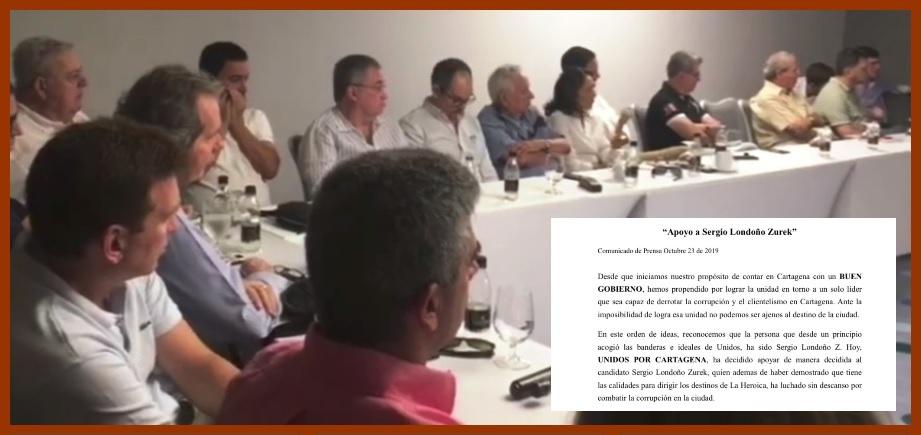 Los nombres detrás de 'Unidos por Cartagena', el nuevo 'tanque de oxígeno' de Londoño