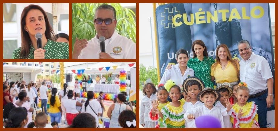 Directora del ICBF y alcalde de Cartagena dan inicio a operación del CDI de Flor del Campo