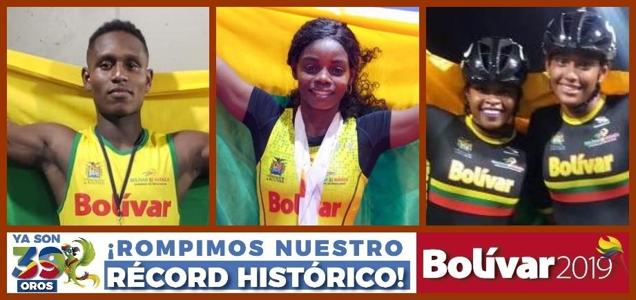 Cumplida la meta trazada: Bolívar ya tiene 39 medallas doradas… y contando