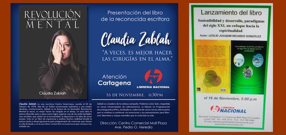 En el Mall Plaza lanzan hoy las más recientes obras de Claudia Zablah y Leslio Ricardo