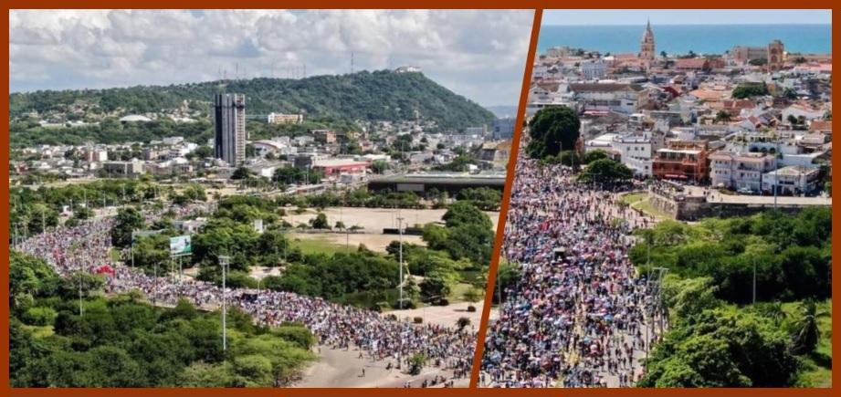 Lo bueno, lo malo y lo feo de la Gran Marcha en Cartagena