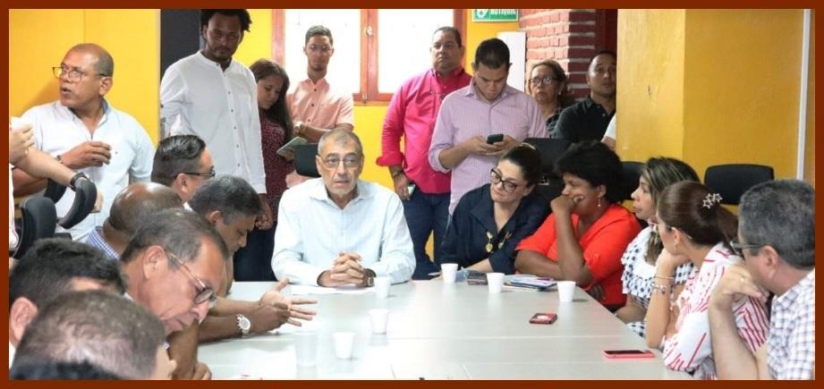 1er. encuentro de alcalde y vicealcaldesa distrital con concejales salientes y entrantes