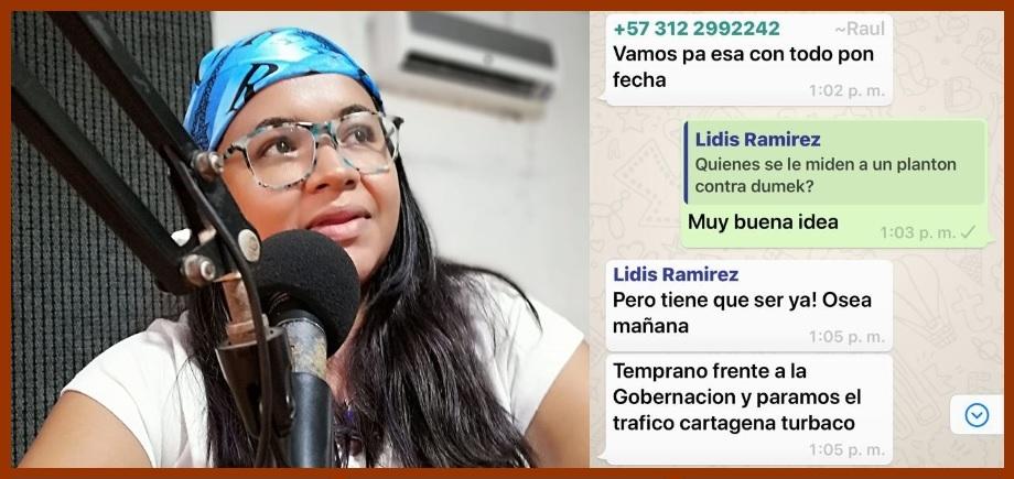 Excandidata al Concejo de Cartagena convoca a plantón contra el gobernador Turbay