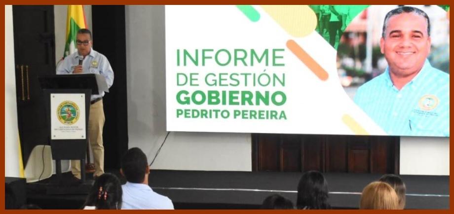 Pedrito Pereira, satisfecho por sus logros durante 15 meses al frente del Distrito