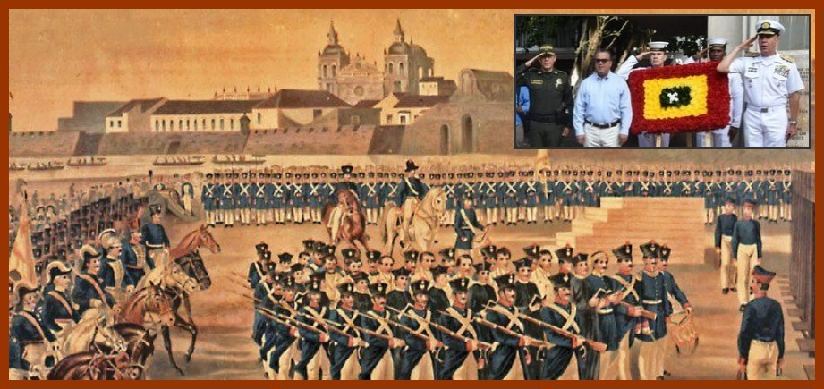 Autoridades locales exaltan memoria de los mártires del 'Sitio de Cartagena'