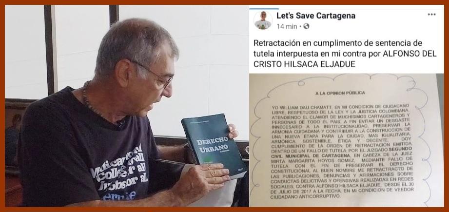 William Dau se retracta otra vez, en esta ocasión por  acusaciones contra Alfonso Hilsaca