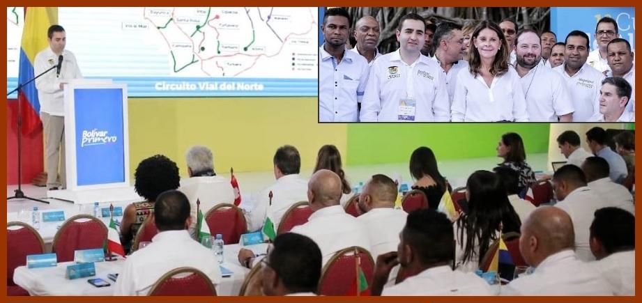 En Mompox, mandatarios se comprometen a convertir a Bolívar en el líder del Caribe