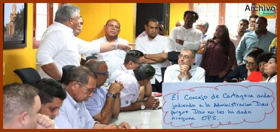 Alcalde Dau dice que «el Concejo de Cartagena anda jodiendo a la Administración»