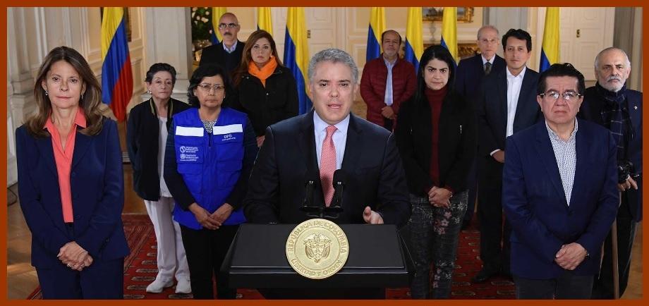 Presidente Duque ordena Aislamiento Preventivo Obligatorio en todo el país